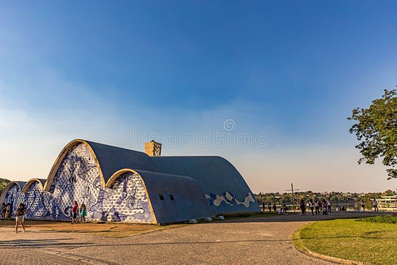 BELO HORIZONTE BRASILIEN - 14, OKTOBER, 2017: En yttre sikt av arkivbilder