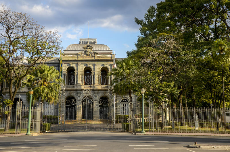 BELO HORIZONTE , BRAZIL.Palace of Liberty. BELO HORIZONTE , BRAZIL-JULY 05, 2015 ;Palace of Liberty , building which was for several years the office of the stock photos