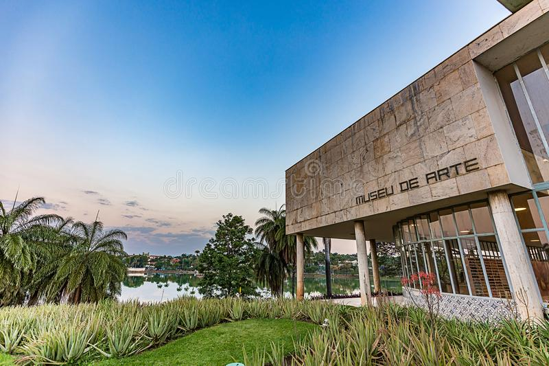 BELO HORIZONTE, BRAZILIË - 14, OKTOBER, 2017: Art Museum, Minas Ge stock fotografie