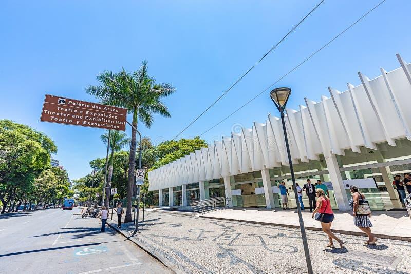 BELO HORIZONTE, EL BRASIL - 13, OCTUBRE DE 2017: Palacio de artes, Mina imágenes de archivo libres de regalías