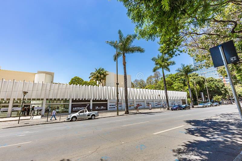 BELO HORIZONTE, EL BRASIL - 13, OCTUBRE DE 2017: Palacio de artes, Mina fotografía de archivo libre de regalías
