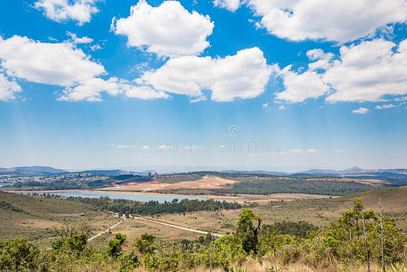 Belo Horizonte, Minas Gerais, Brasile Vista dalla parte superiore del mondo fotografia stock