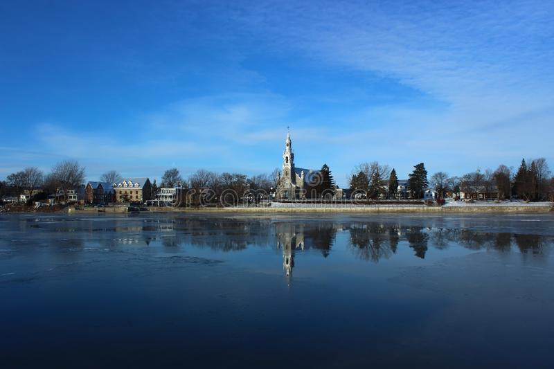 Beloeil, Quebec, Canada. From Across the Richelieu River royalty free stock images