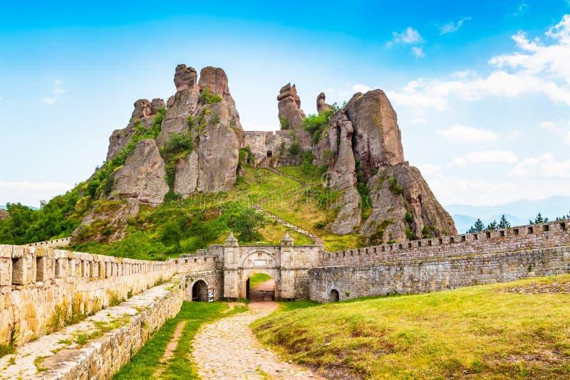 Belogradchik Kaleto, antyczny forteca, atrakcja turystyczna zdjęcia royalty free