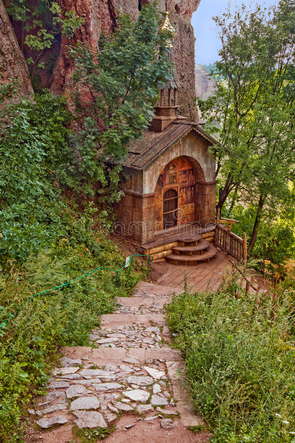Belogradchik Rocks Chapel royalty free stock photo