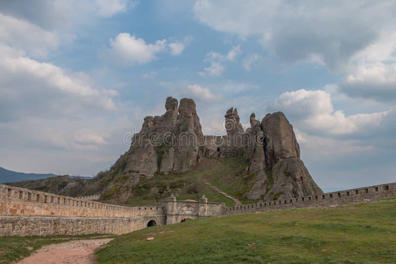 Belogradchik Rocks and Fortress'entrance, Bulgaria royalty free stock image