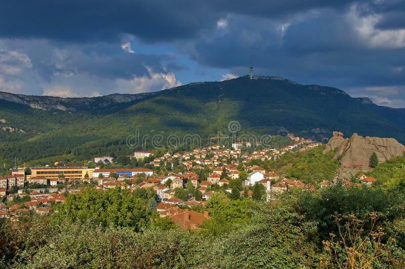 Belogradchik stad, Bulgarien royaltyfri fotografi