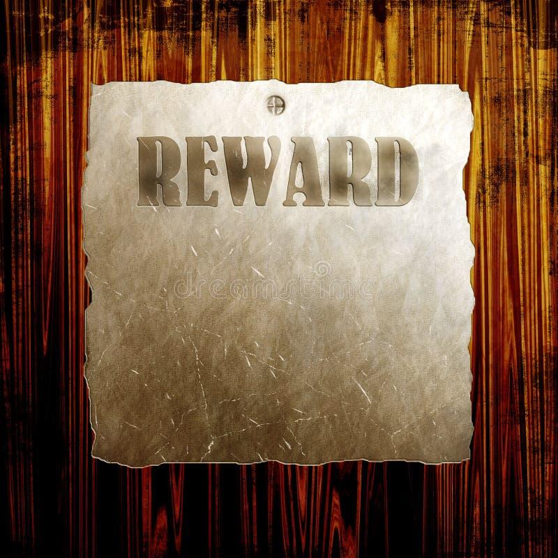 Belohnungs-Plakat lizenzfreie abbildung