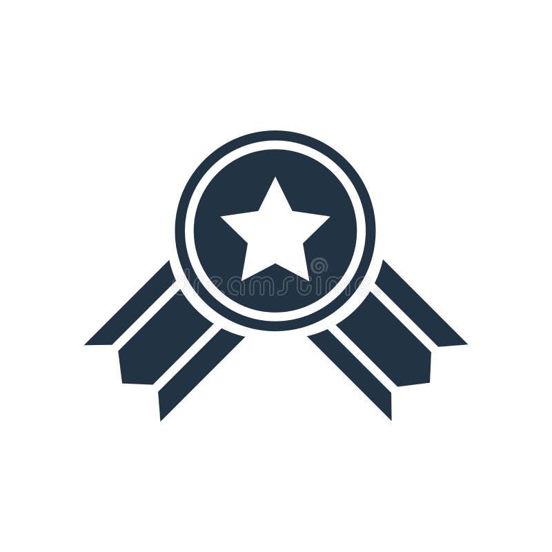 Belohnungsikonenvektor lokalisiert auf weißem Hintergrund, Belohnungszeichen stock abbildung