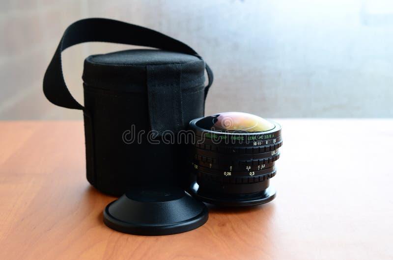 BelOMOewp fisheye MC 8mm 3 5 fotografische lens dichte omhooggaand royalty-vrije stock fotografie