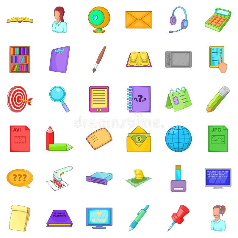 Belonging icons set, cartoon style. Belonging icons set. Cartoon set of 36 belonging vector icons for web isolated on white background stock illustration