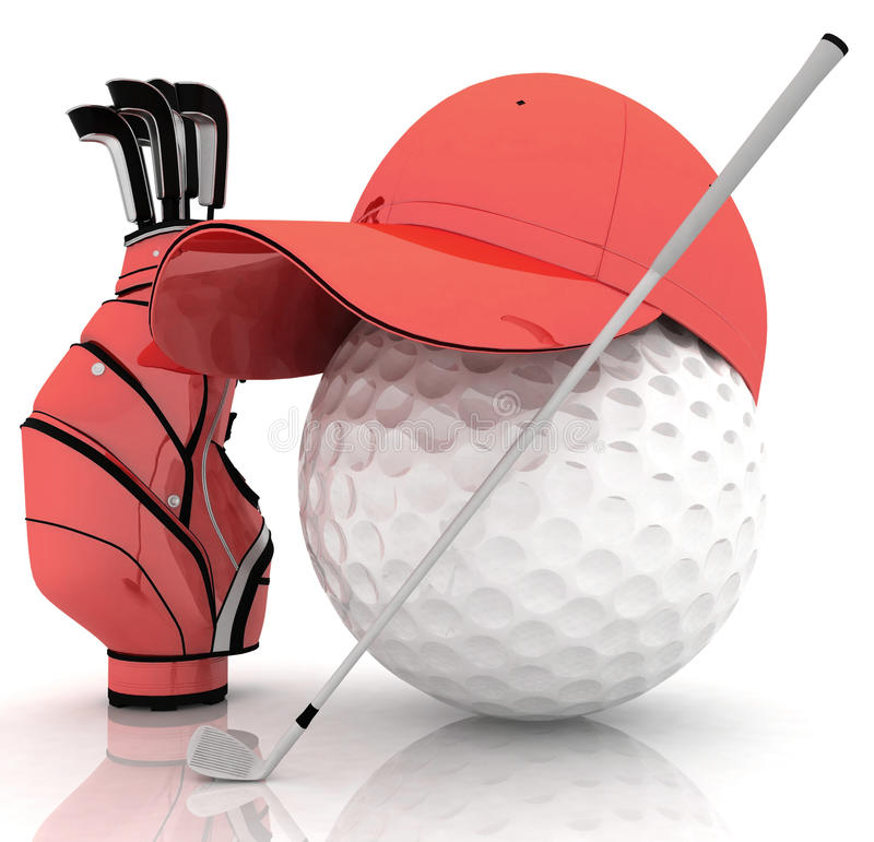 Belonging for playing golf. On a white background vector illustration
