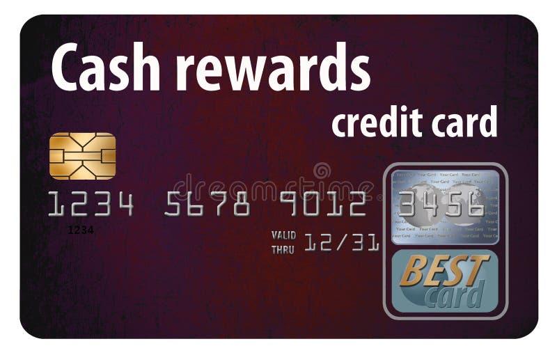 beloningencreditcard royalty-vrije illustratie