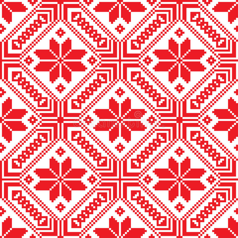 Free Belorussian Ethnic Ornament, Seamless Pattern. Vector Illustration Royalty Free Stock Photography - 50072677
