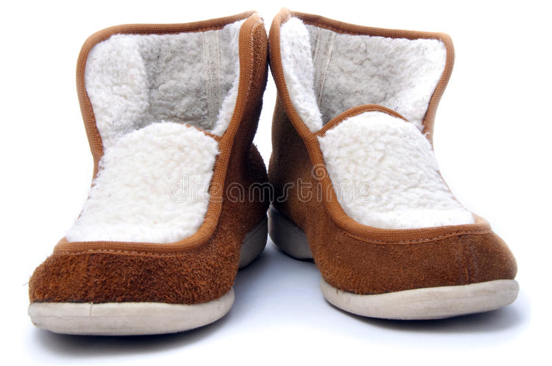 Belorussian Heat-insulated Winter Slippers Royalty Free Stock Photos