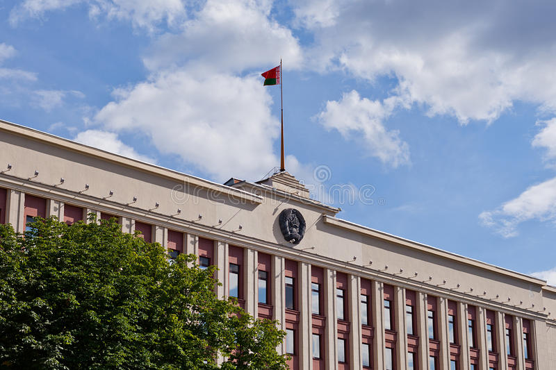 Belorussian regering som buiding arkivfoton