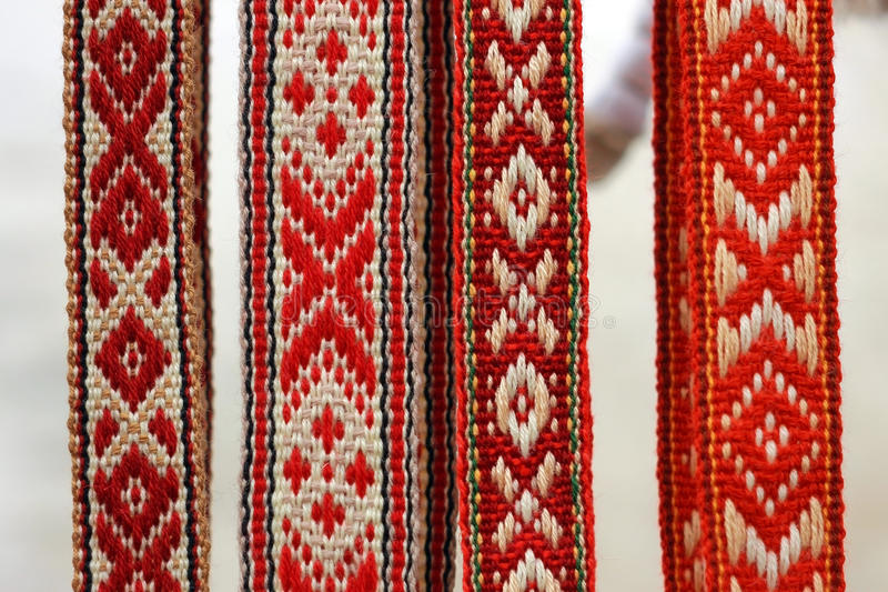 Belorussian traditional belts royalty free stock photos
