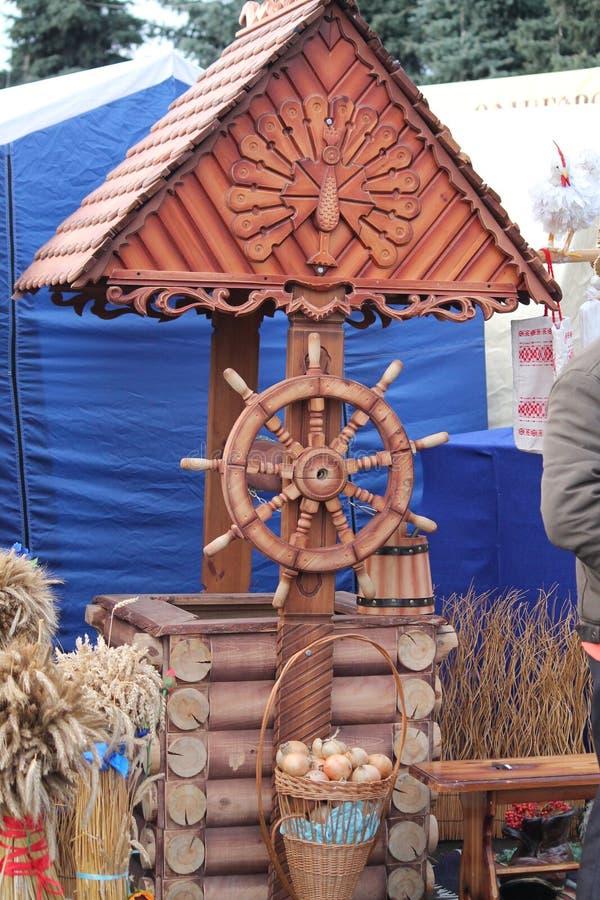 Belorussian traditions. Tradition bright festival of the new harvset call: Dozhinki , November,13, 2015, Vileyka, Belarus royalty free stock photo