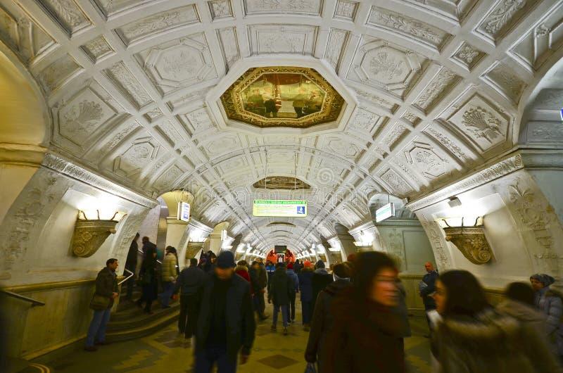 Belorusskaya metro station, Moscow stock photography