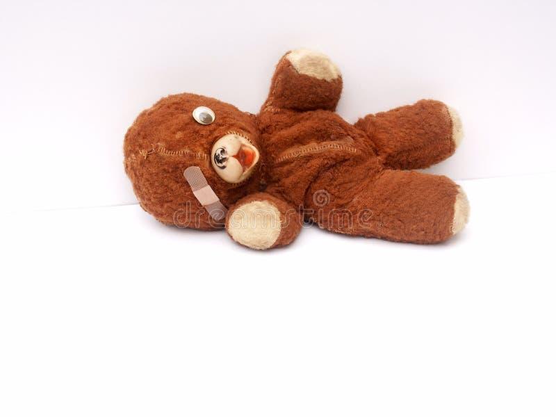 Beloved old teddy bear stock photo