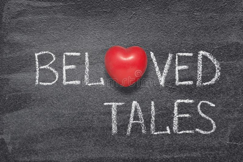 Beloved tales heart royalty free stock image