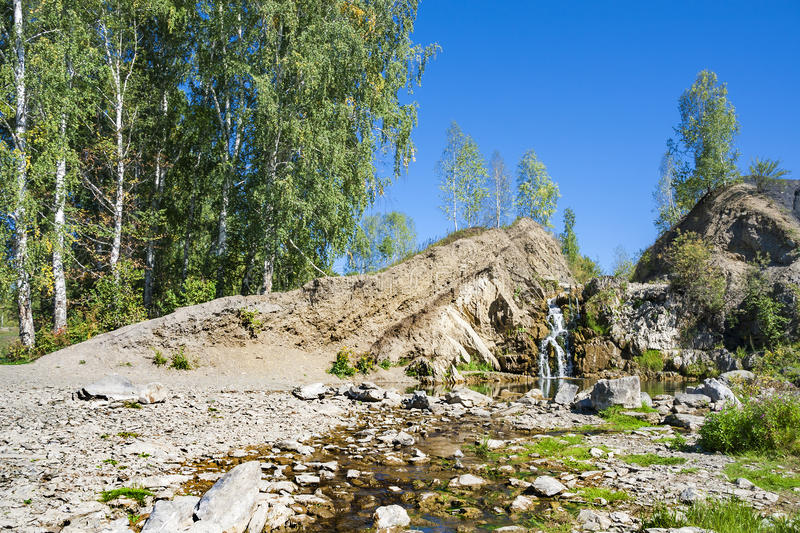 Download Belovsky Waterfall Is A Natural Attraction Stock Photo - Image of deserted, rocks: 83710352