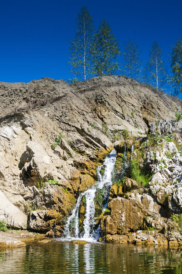 Download Belovsky Waterfall Is A Natural Attraction Stock Image - Image: 83711713