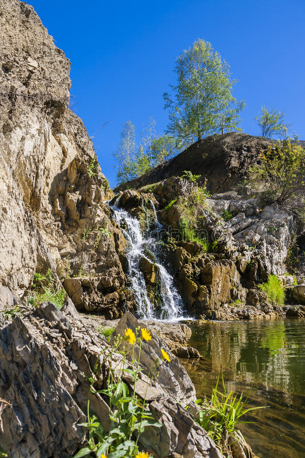 Download Belovsky Waterfall Is A Natural Attraction Stock Photo - Image: 83711719