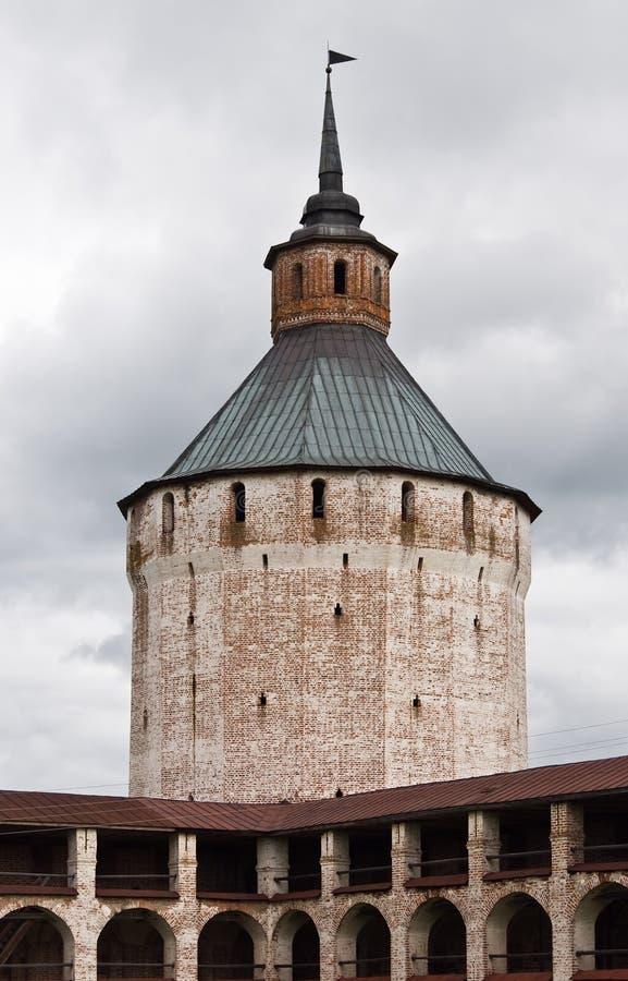 belozersky kirillo monasteru Moscow wierza zdjęcie royalty free