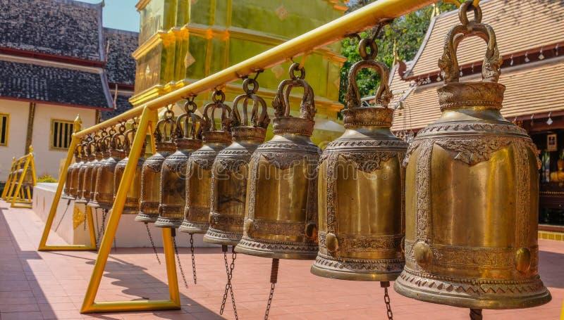Bels em um templo imagens de stock