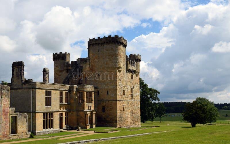 Belsay城堡,诺森伯兰角,英国 免版税库存图片