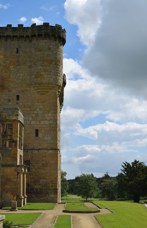 Belsay城堡,诺森伯兰角 免版税图库摄影