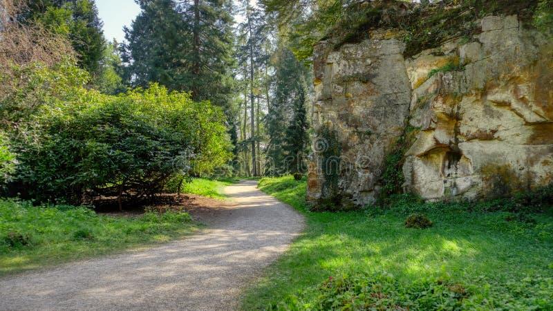 Belsay Castle, Hall en Gardens royalty-vrije stock foto
