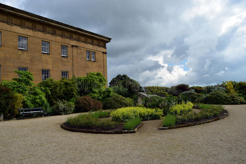 Belsay Hall, le Northumberland photographie stock