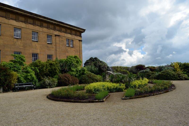 Belsay Hall, Northumberland fotografia stock