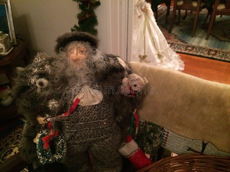 Belsnickle με τους διακόπτες και τα δώρα στοκ εικόνες