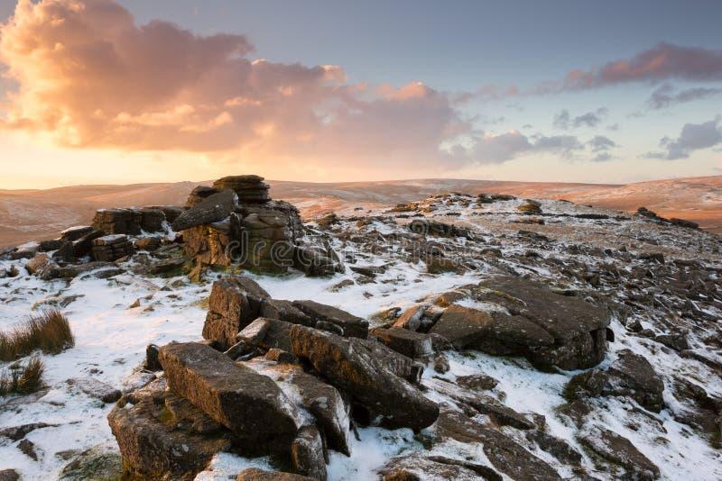 Belstone Dartmoor royalty-vrije stock foto's