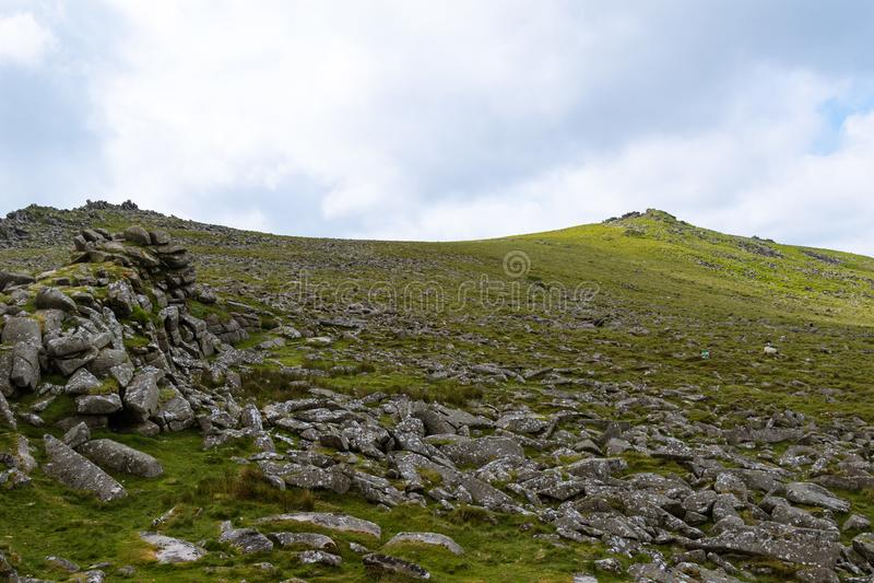 Belstone Tor na Dartmoor zdjęcie royalty free