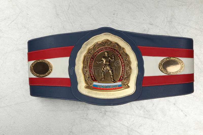 Belt Boxing champion. The Federation of professional Boxing of Russia stock photo