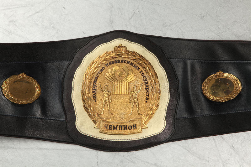 A belt of the champion on Boxing. Belt Boxing champion. The Commonwealth of independent States stock photo