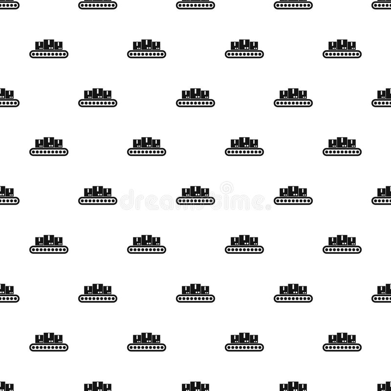 Belt conveyor with load pattern, simple style. Belt conveyor with load pattern. Simple illustration of belt conveyor with load vector pattern for web design vector illustration