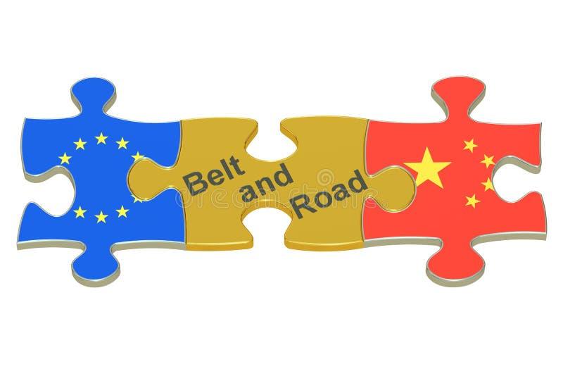 Belt and Road, 3D rendering royalty free illustration