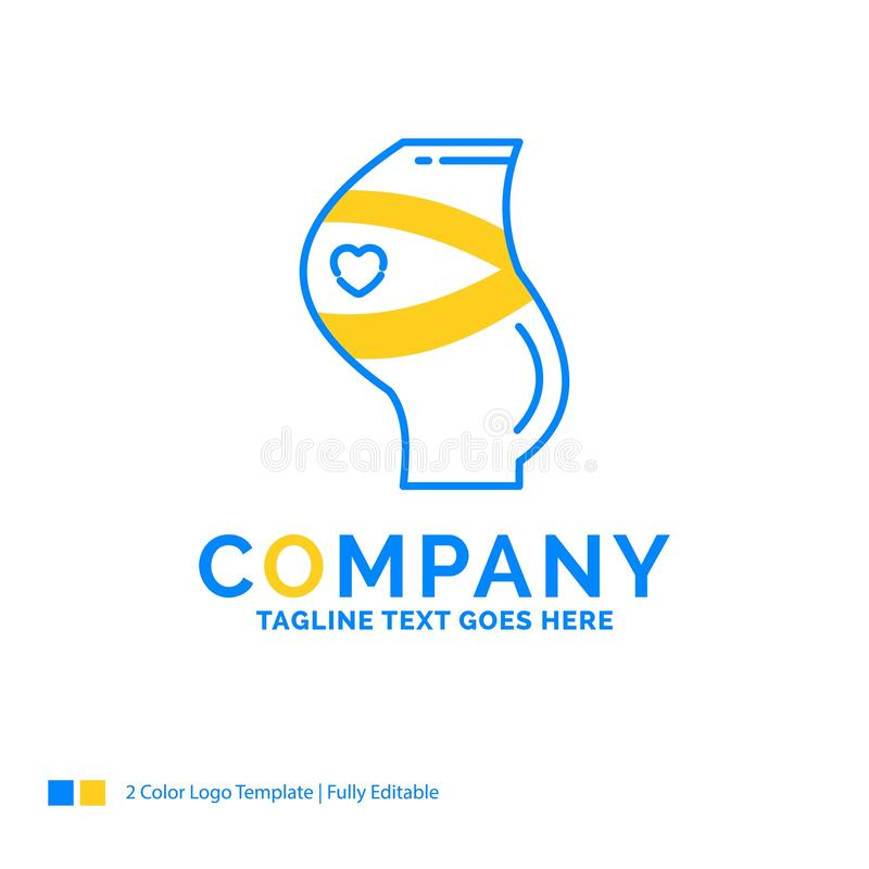 Belt, Safety, Pregnancy, Pregnant, women Blue Yellow Business Lo royalty free stock image