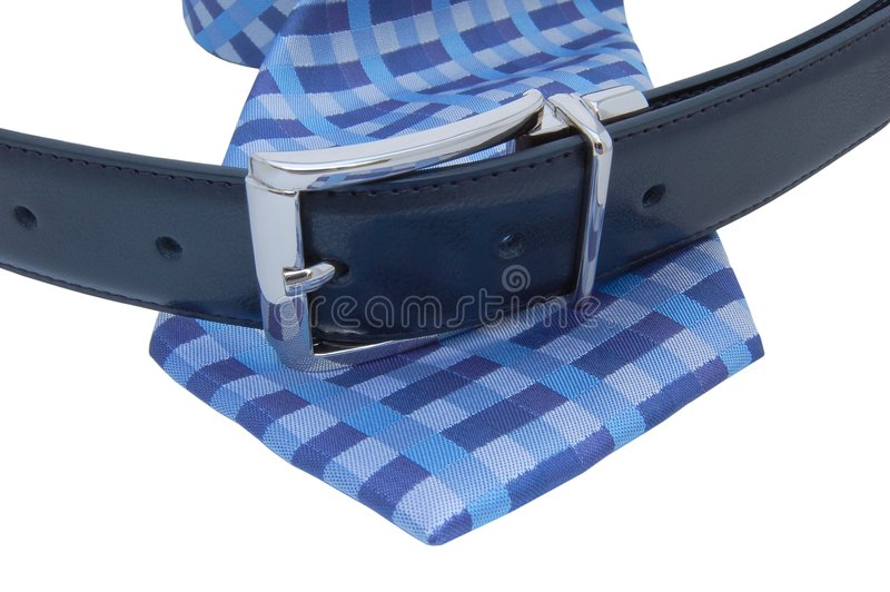 Belt and tie royalty free stock image