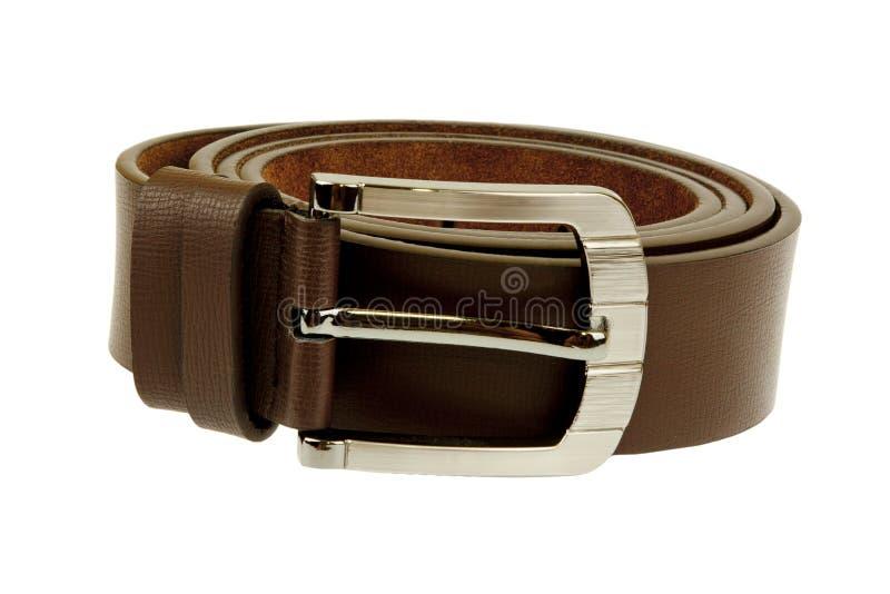 Belt two. Man's belt on white background royalty free stock photo