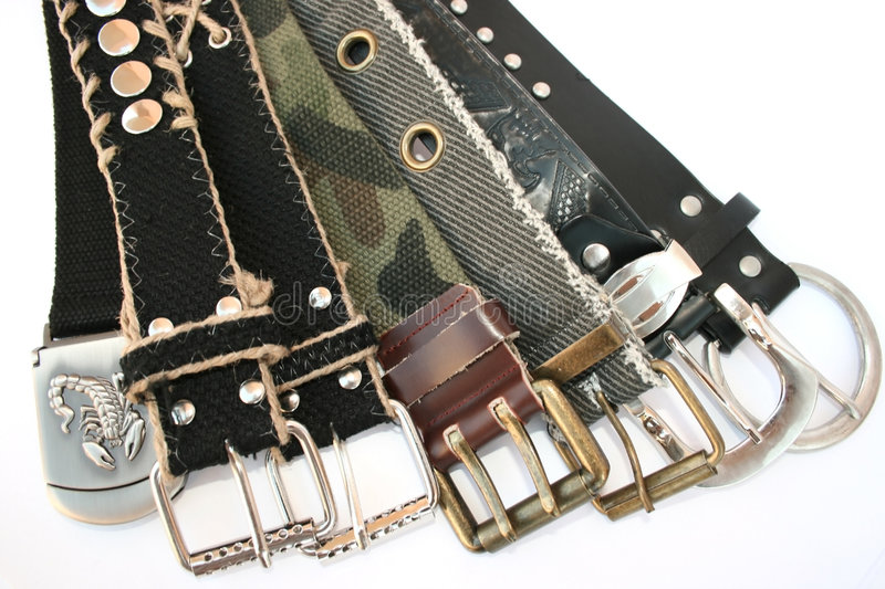 Belts royalty free stock photo