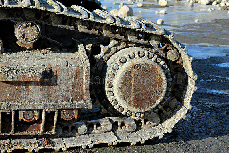 Excavator belts royalty free stock photo