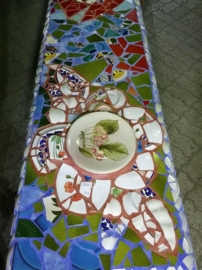 Belvédère Marittimo - banc de majolique photo stock