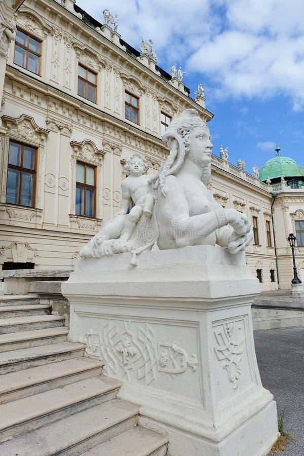 Belvédère supérieur à Vienne, Autriche photo stock