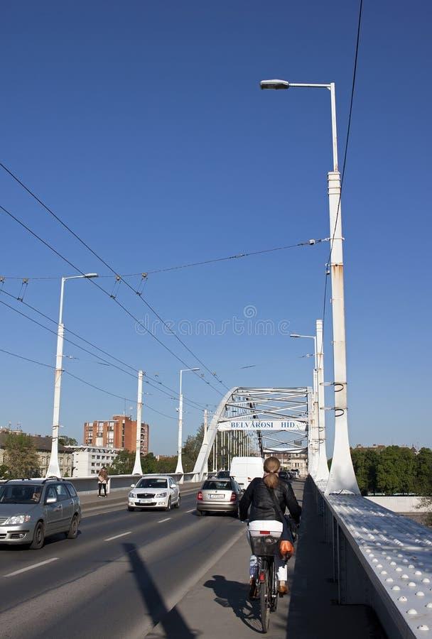 Belvarosbrug stock foto